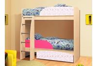 Кровать-чердак «Омега-4-фуксия»