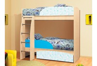 Кровать-чердак «Омега-4-индиго»