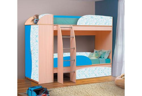 Кровать-чердак «Омега-4-А-индиго»