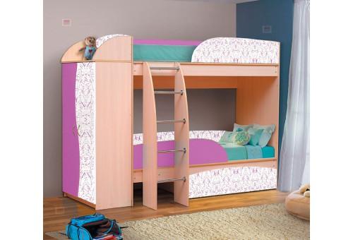 Кровать-чердак «Омега-4-А-фиолет»